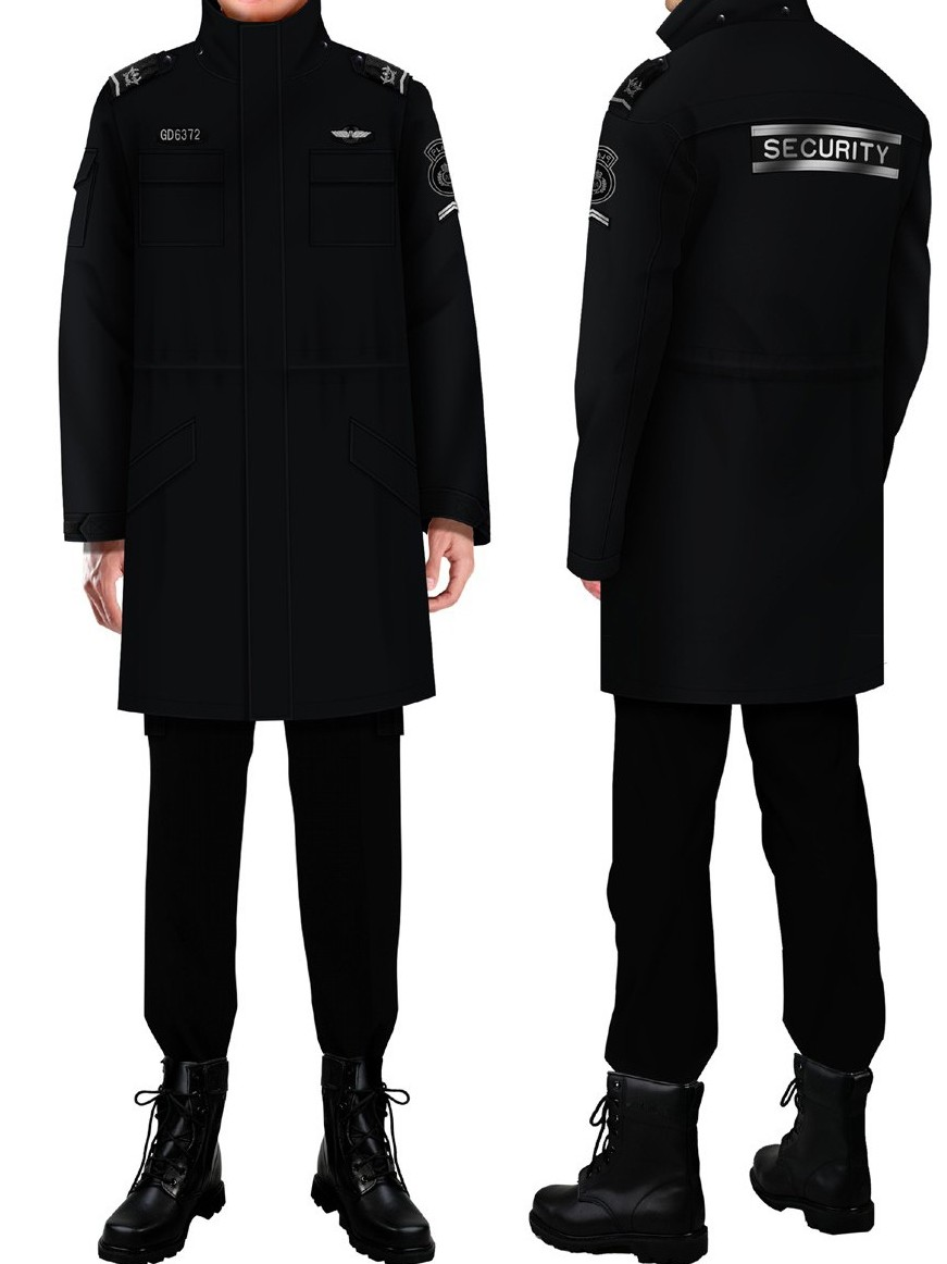 4款冬季保安制服|物业银行酒店工区停车场保安服