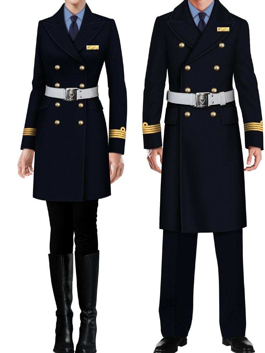 3款长款新式保安制服秋冬款 礼宾酒店银行保安服