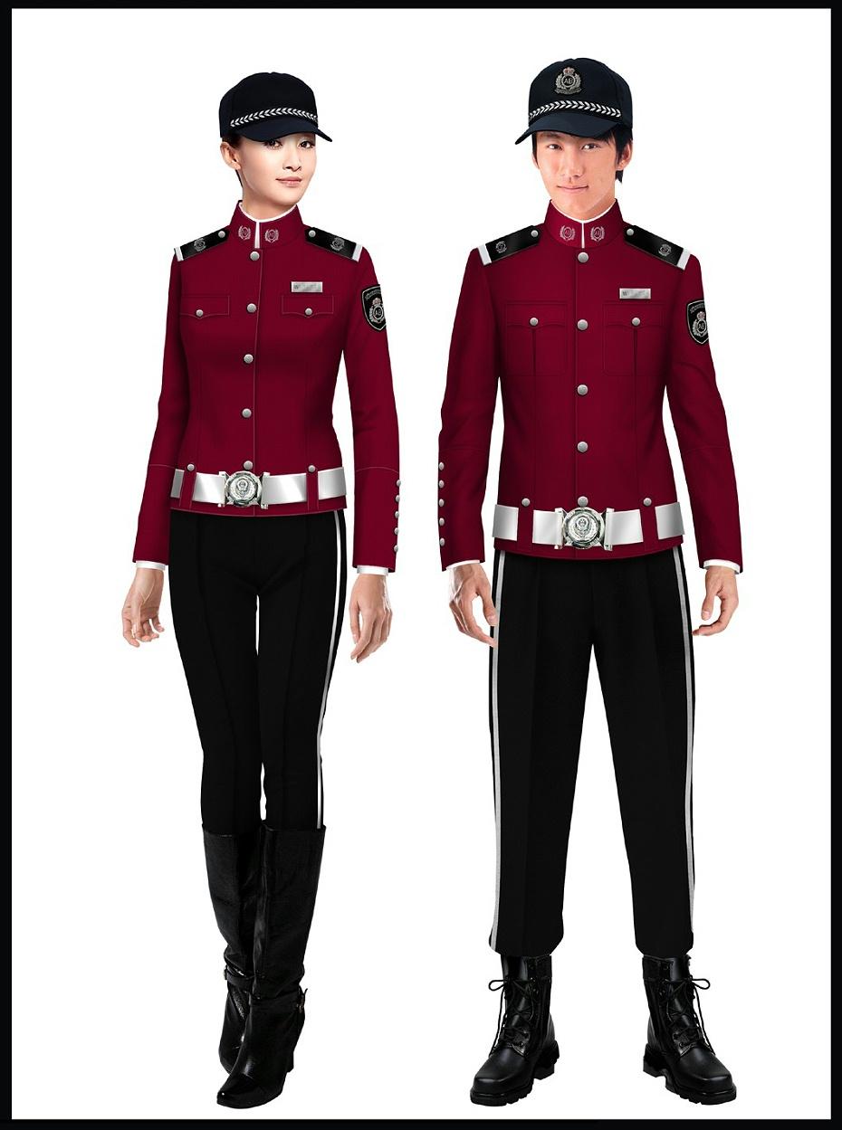 4款春秋季短款保安制服