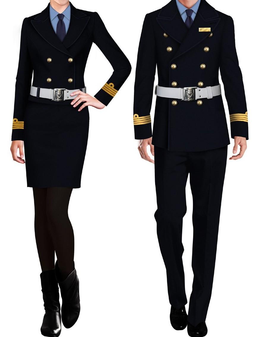2款春秋季中长款男女士保安制服标志服