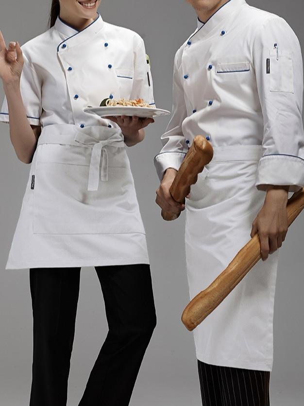西点厨师服男女短袖款 夏装批发