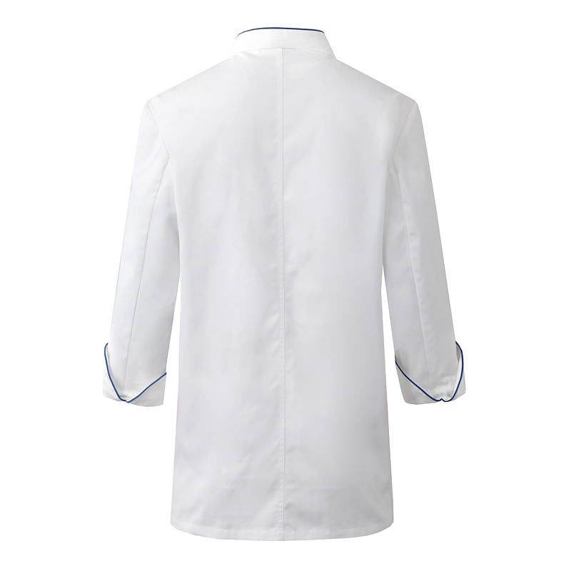 厨师服 白色长袖春秋季厨师服男女同款