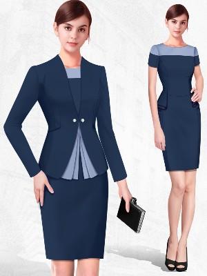 房地产销售吧台工作服连衣裙
