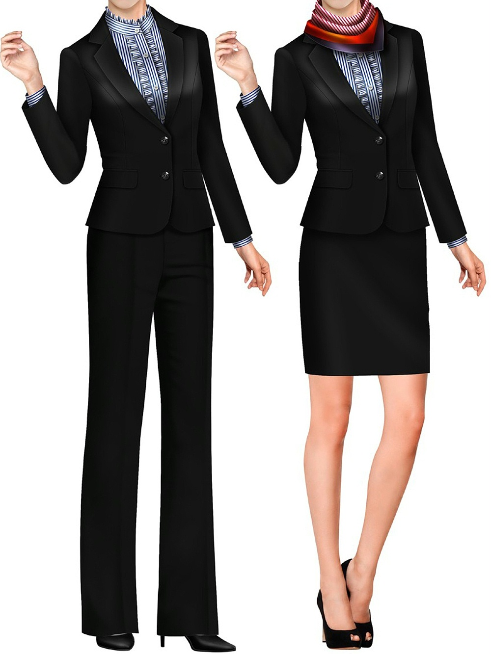 3款银行柜员工作服女士|银行职工工装|五大银行制服定做