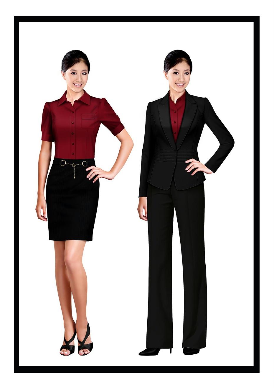4款银行工作装西服|银行办公室员工制服