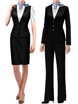 中国银行制服|交通银行上班工作服