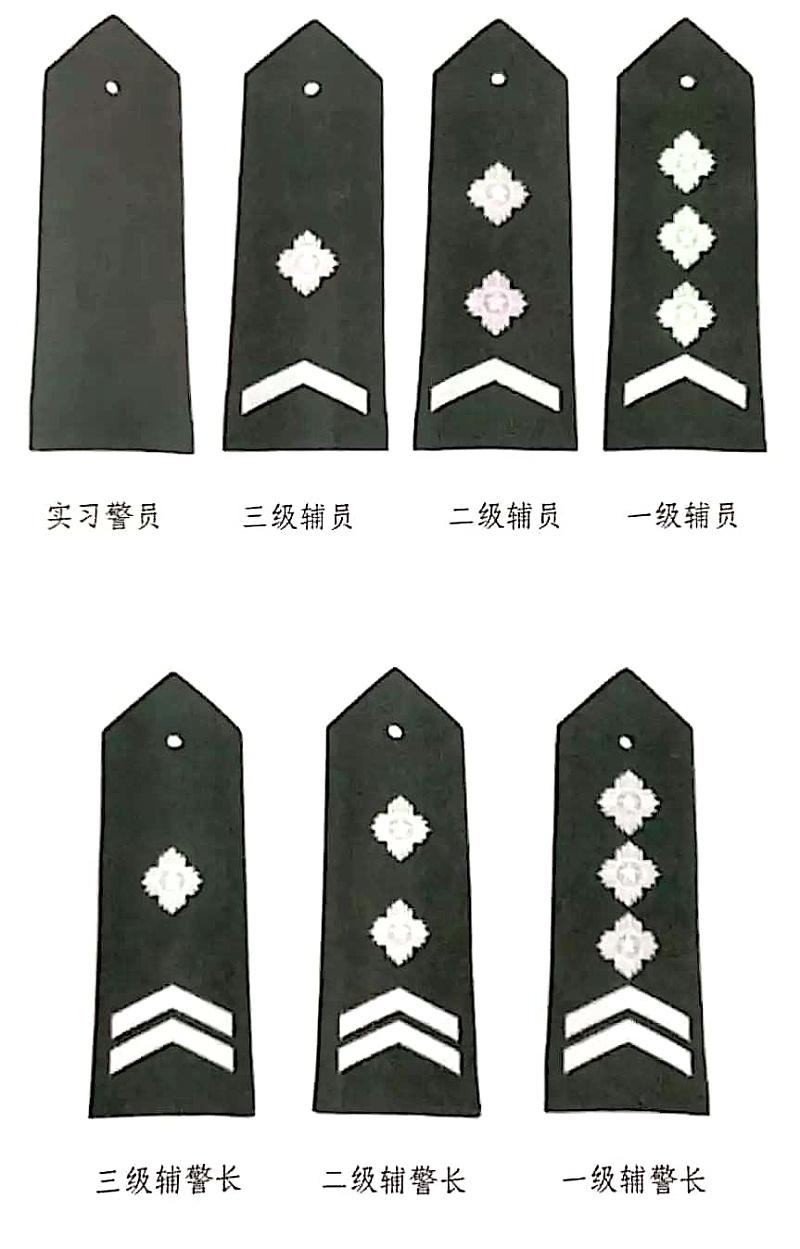 辅警制服肩章级别图