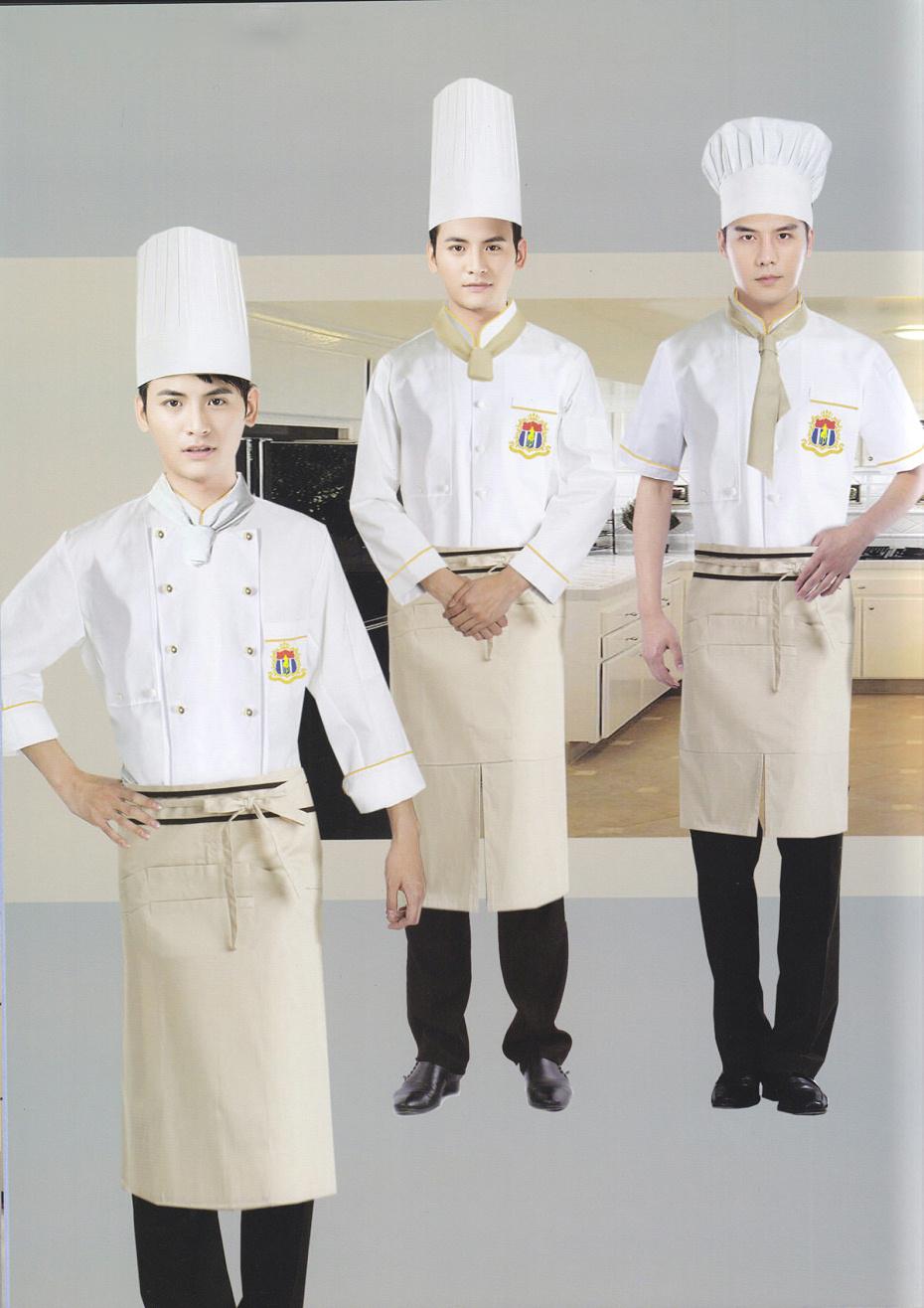 3款女士厨师服装 总厨夏装短袖