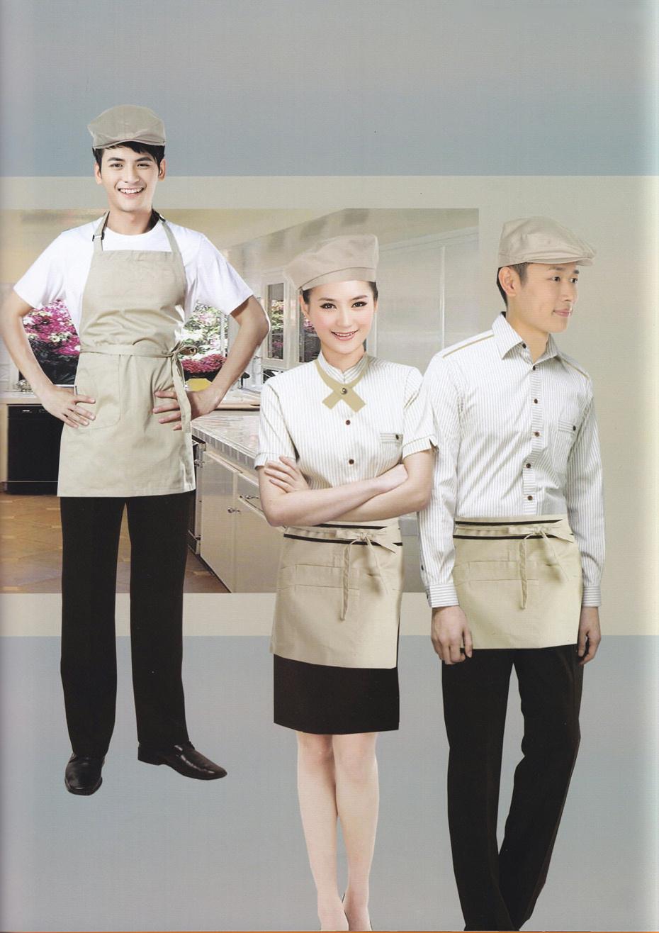 秋季长袖厨师服工作服套装