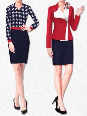 11款女士商务正装三件套 酒店领班衣服工作服 西服套裙