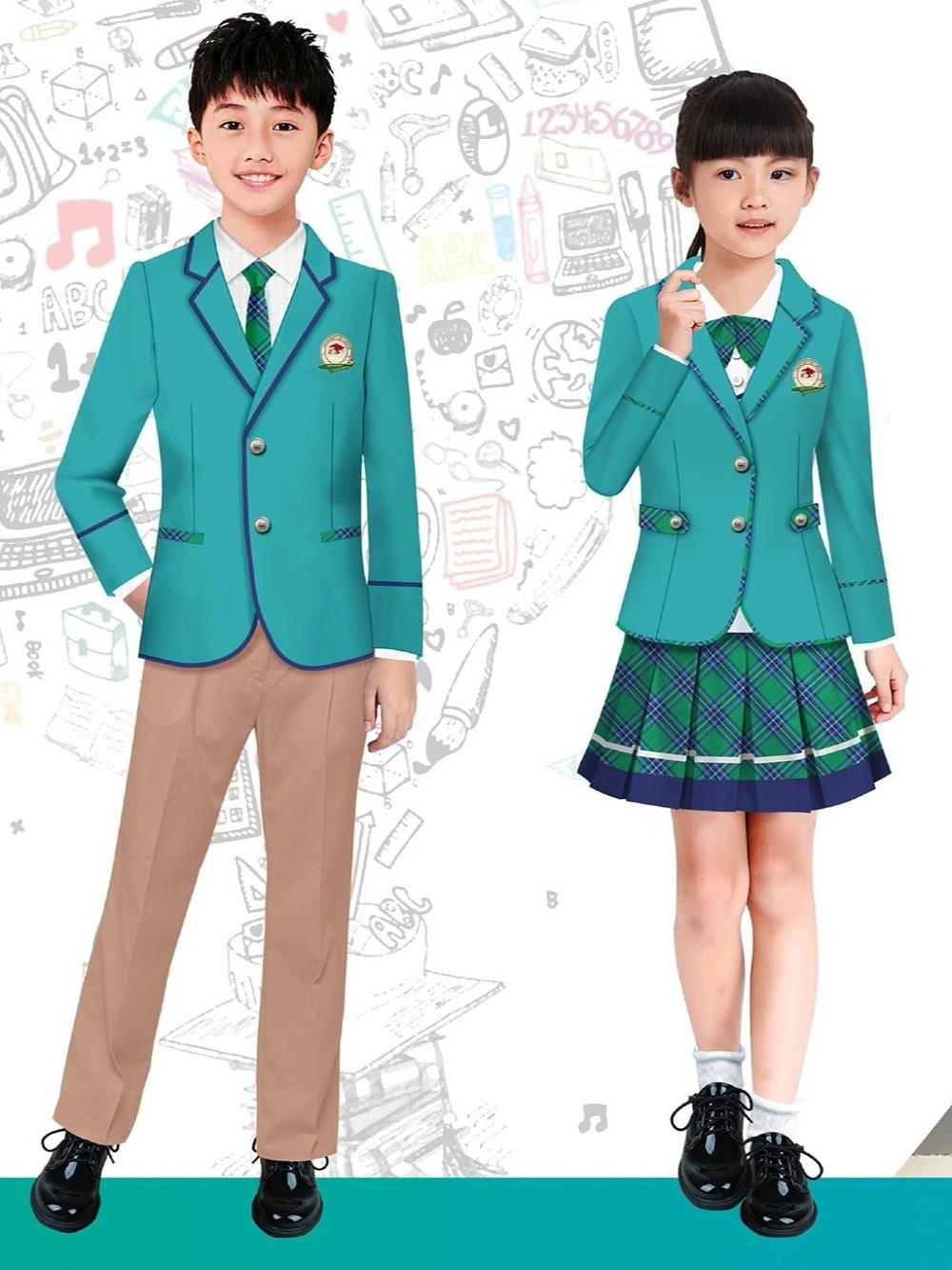 4款春秋季中小学生校服 外国语学校校服 公立私立学校校服