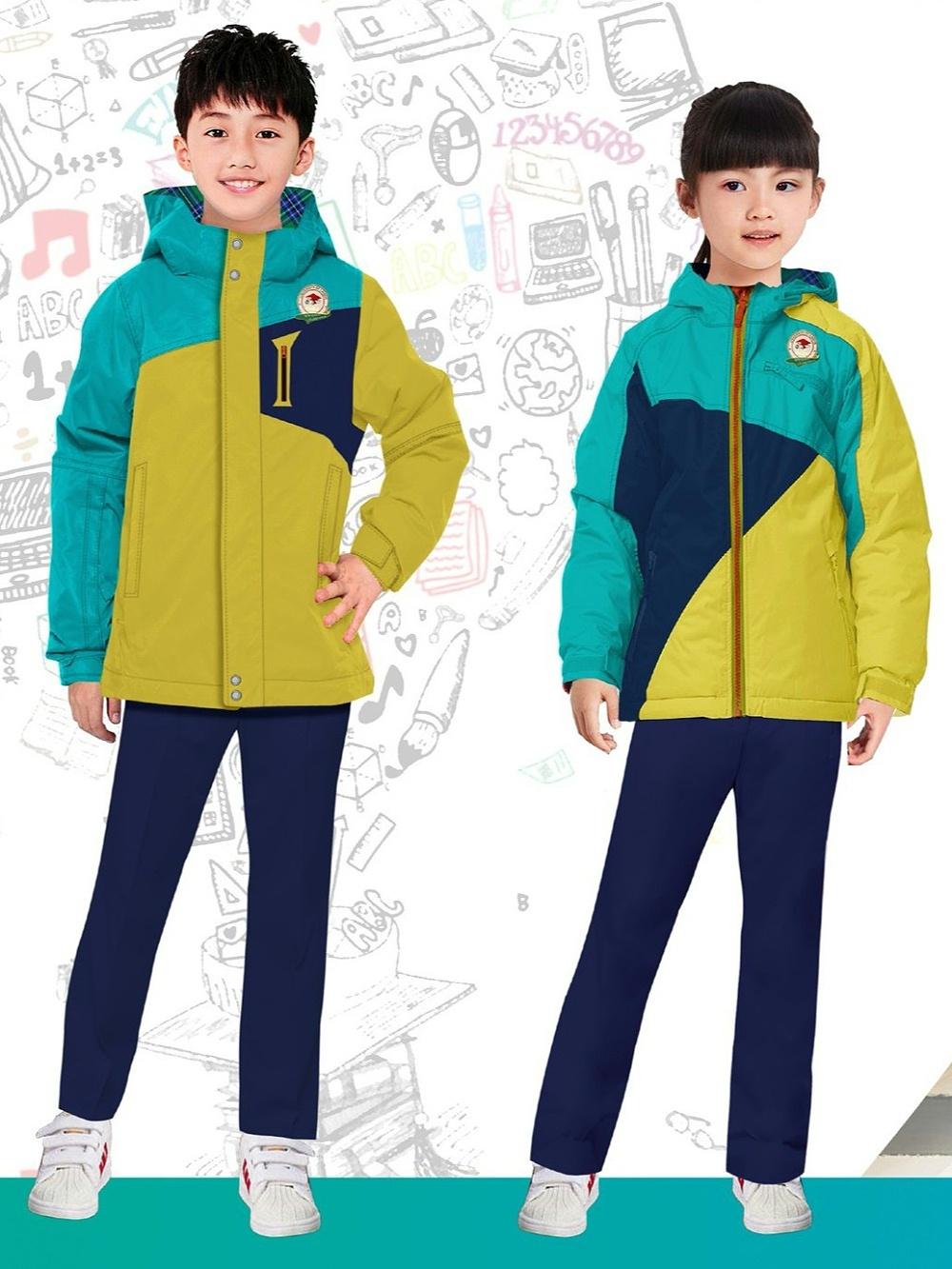 冬季小学校服 实验小学的校服