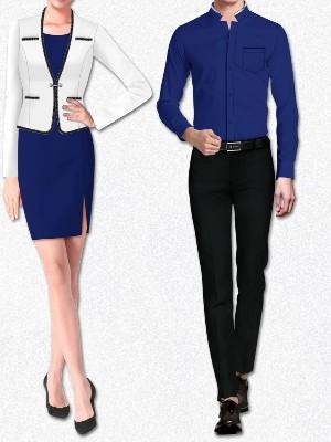 5款女士商务正装套装  男士商务正装衬衫搭配