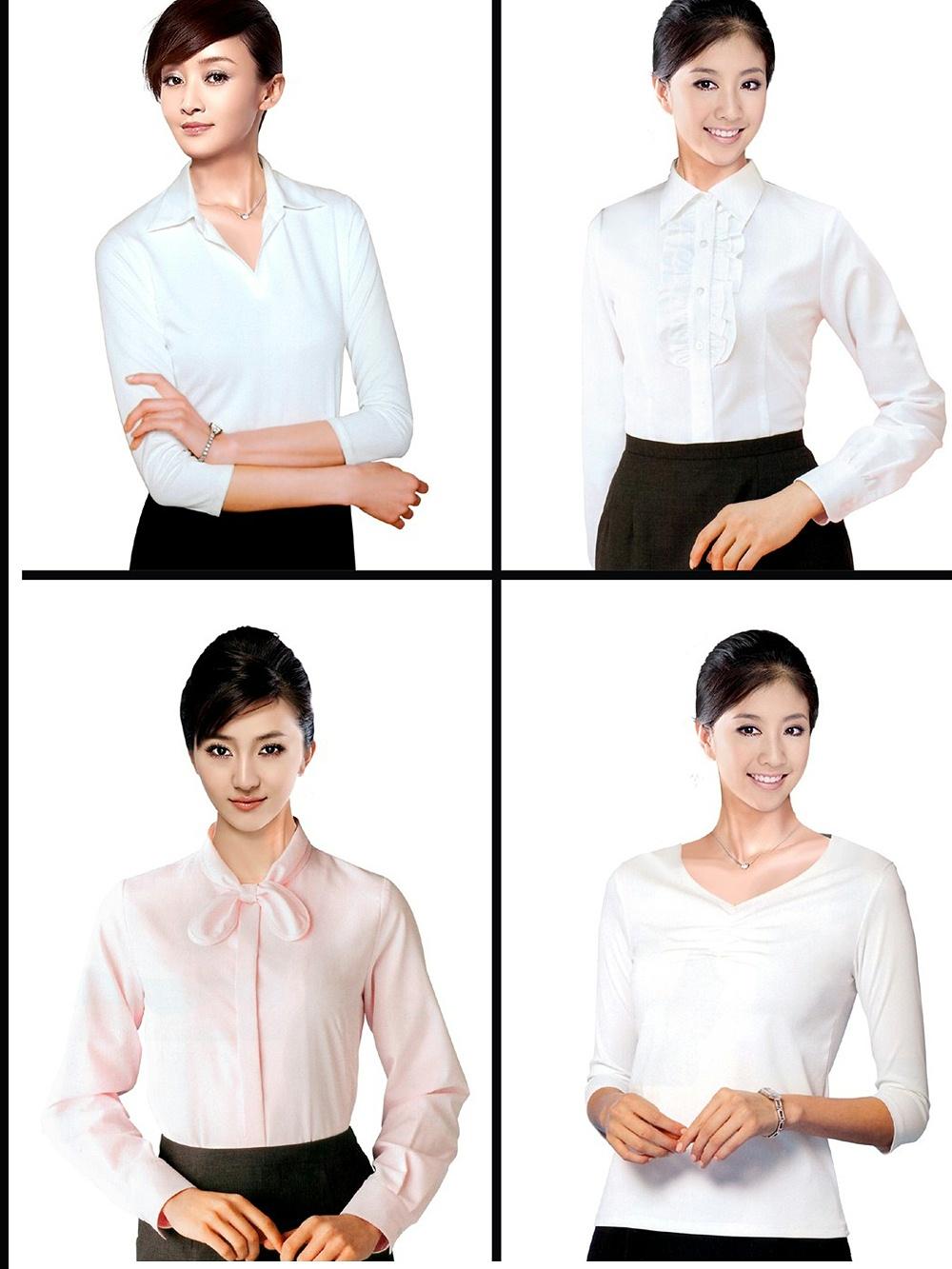 8款夏季女十教师工作服装