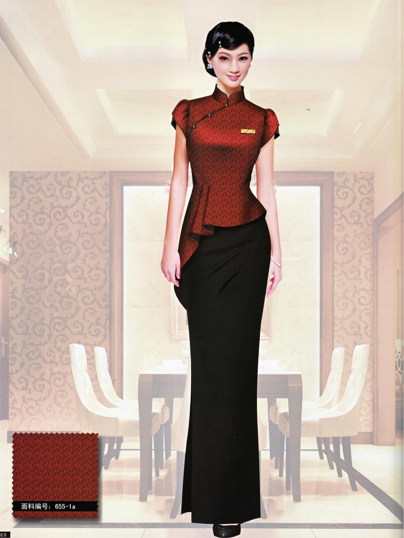 五星级酒店前台中式礼宾工服