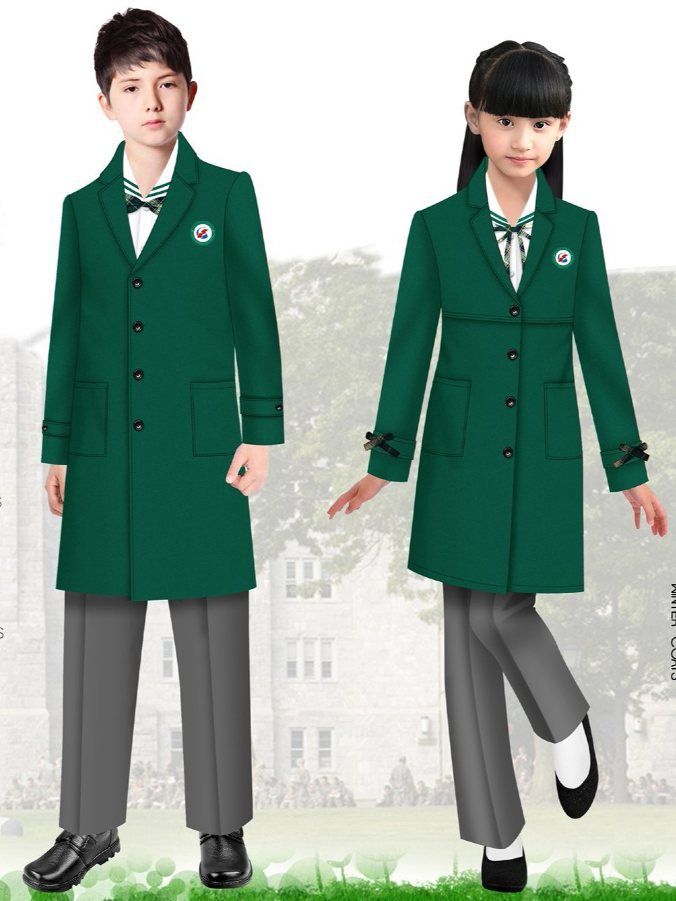 小学生校服冬季  实验小学的校服  小学校服冬装