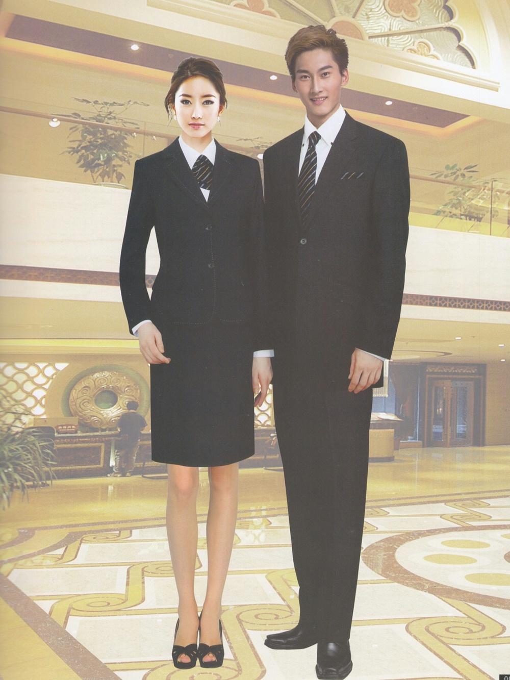 商务酒店前台迎宾西装制服