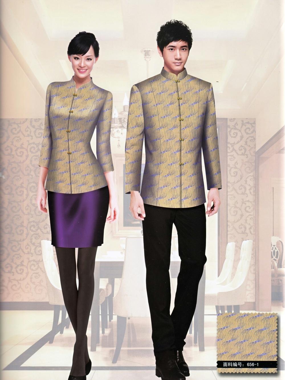 中式酒店餐厅服务员制服