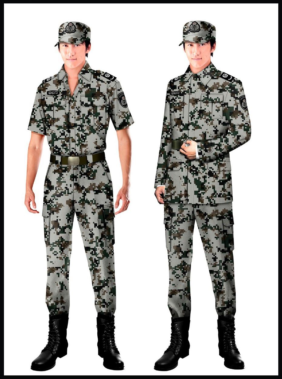 4款保安制服迷彩服款式图片
