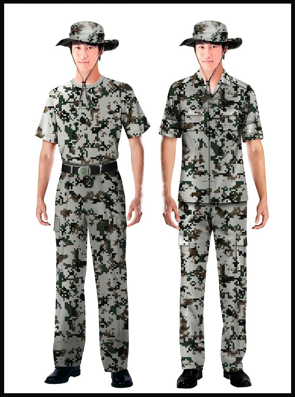 4款保安制服长袖短袖迷彩服批发厂家