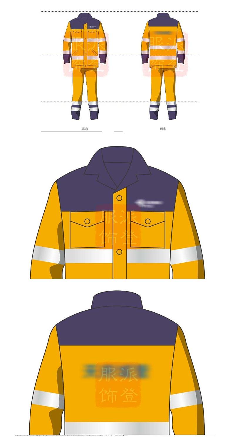 工作服设计效果图制作(工作服图案个性设计的基本原则)