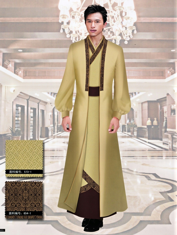 新款中式复古式酒店制服套装