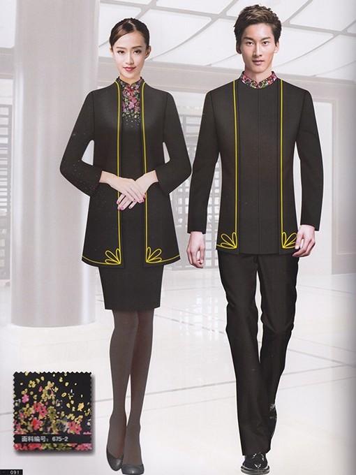 国际时尚美容水疗中式制服