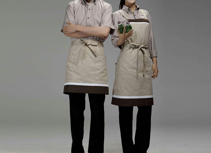 饭店服务员工作服(高档餐厅服务员工作服冬装图片/穿什么颜色好)