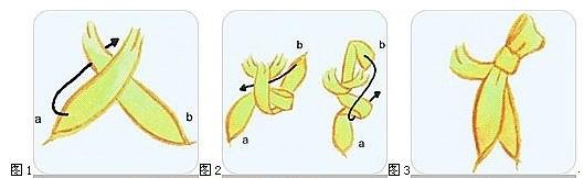 工作服丝巾系法三:凤蝶结系法