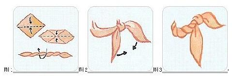 工作服丝巾系法一:海芋結系法
