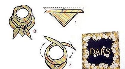 工作服丝巾系法三:围巾结系法