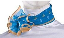 工作服丝巾系法三:绚丽百折花系法