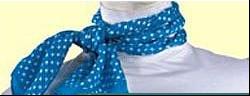 工作服丝巾系法三:清新麻花结系法