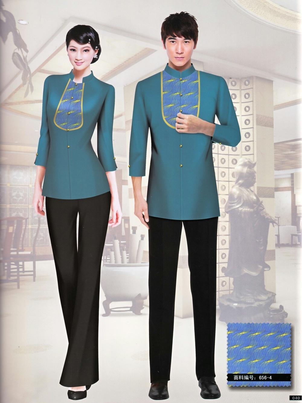 星级酒店餐饮员工中式制服套装