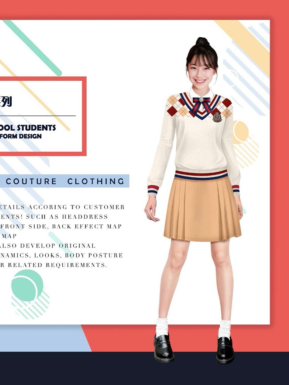 19款中学生校服|中学生穿的礼服裙